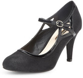 Dorothy Perkins Black Mary-Jane mid heel court