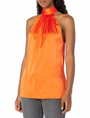 Ramy Brook Women's Lori Sleeveless High Neck Top with Back Tie Detail
