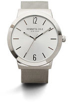 Kenneth Cole Silver Tone Stainless Steel Mesh Watch