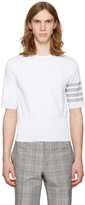Thom Browne White Trompe Loeil Four Bar T-shirt