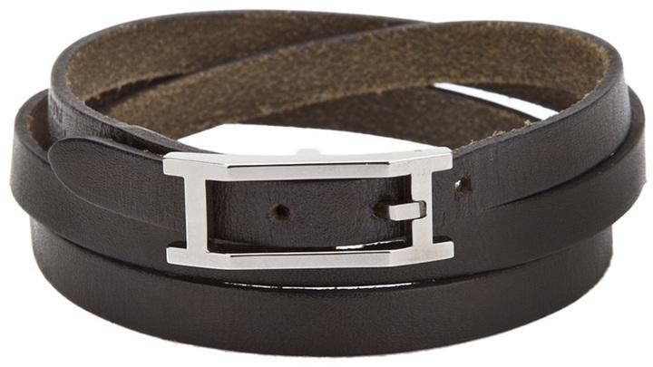 Hermes Vintage leather skinny bracelet