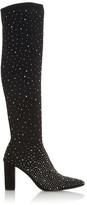 Dune London Starlight Knee High Diamante Sock Boots