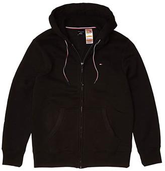 Tommy Hilfiger Adaptive Solid Hoodie (Deep Black) Men's Clothing