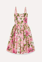 Dolce & Gabbana Floral-print Organza Dress - Baby pink