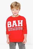Boohoo Boys Bah Humbug Christmas Jumper