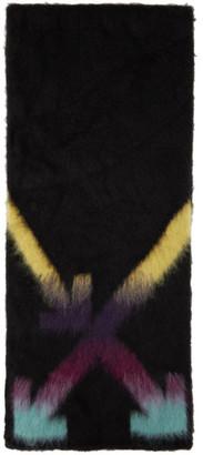 Off-White Black and Multicolor Alpaca Fuzzy Arrows Scarf