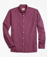 Brooks Brothers Gingham Batiste Oxford Sport Shirt