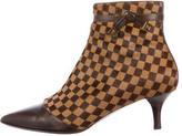 Louis Vuitton Ponyhair Damier Ankle Boots