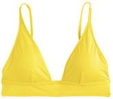 J.Crew Plunge V-neck bikini top in Italian matte