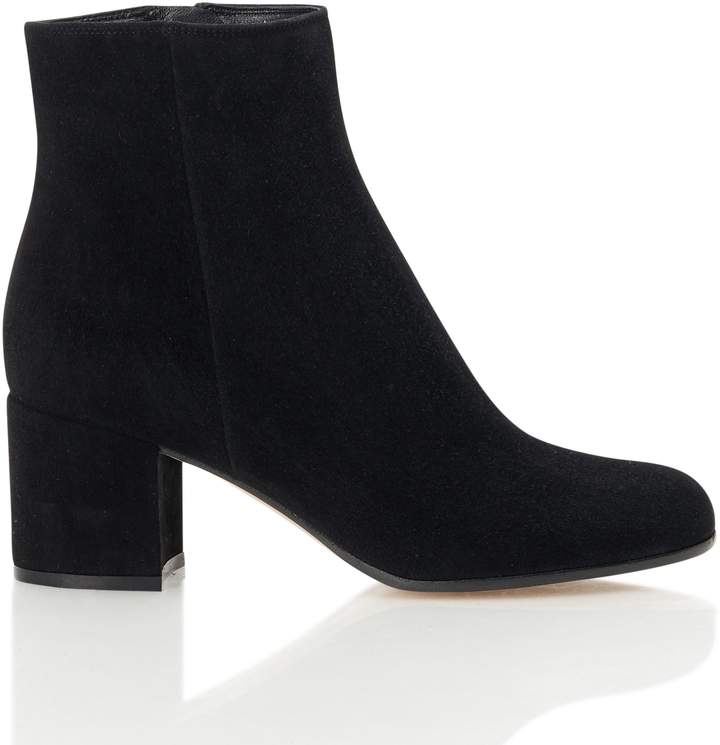 Gianvito Rossi Round Toe Ankle Boot
