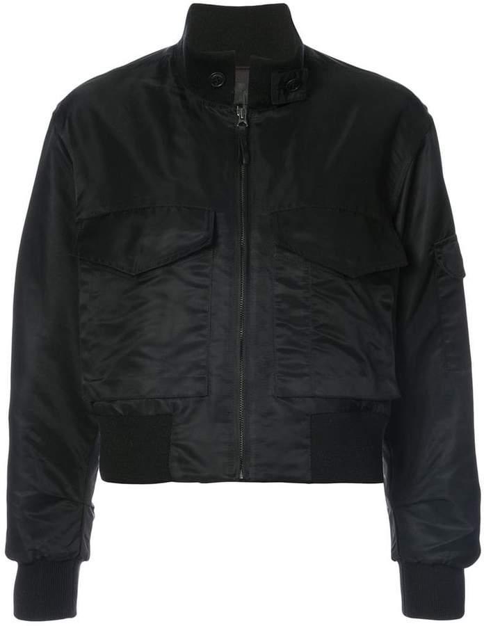 Nili Lotan front pocket bomber jacket