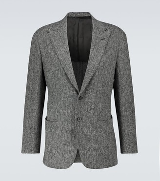 Thom Sweeney Harris Tweed herringbone blazer