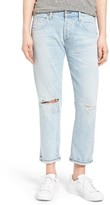 Citizens of Humanity Women's Emerson High Waist Ripped Boyfriend Jeans