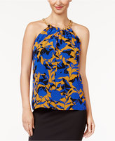 Thalia Sodi Floral-Print Chain-Detail Top, Created for Macy's