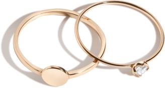AUrate New York Diamond Medallion Ring Set