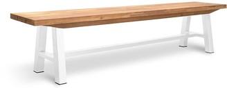 Calibre Furniture Potoma Indoor/outdoor Dining Bench White Leg