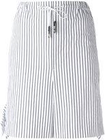 Toga striped tie-waist shorts