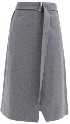 Joseph Salin Wool-blend Midi Wrap Skirt - Grey