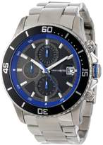 Vince Camuto Men's Quartz Watch with Black Dial Analogue Display and Silver Stainless Steel Bracelet VC/1017BLU
