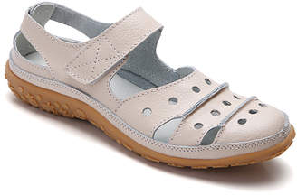BEIGE Wei Deng Women's Sandals  Cutout Leather Sandal - Women