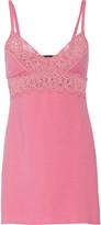 Cosabella Edith lace-trimmed cotton-blend chemise
