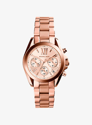 Michael Kors Bradshaw Rose Gold-Tone Watch - Rose Gold