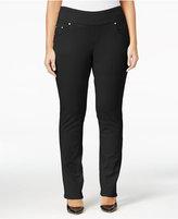Jag Plus Size Peri Pull-On Straight-Leg Jeans