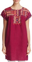 Johnny Was Short Sleeve Embroidered Tunic