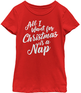Fifth Sun Red 'Christmas Nap' Tee - Girls