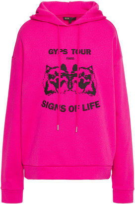 Maje Embroidered Cotton-blend Fleece Hoodie