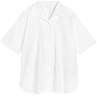 Arket Broderie Anglaise Shirt