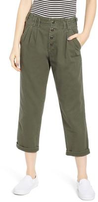 UNIONBAY Landon High Waisted Button Crop Pants