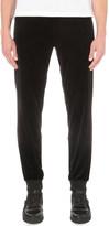 Versace Cuffed velour jogging bottoms
