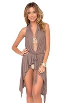 Luli Fama Cosita Buena Cover Ups Beach Wrap Vest In Sandy Toes (L177846)