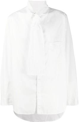 Yohji Yamamoto Tie Neck Shirt