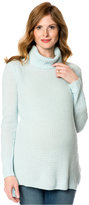 A Pea in the Pod Maternity Cashmere High-Low Turtleneck Sweater