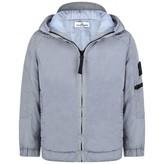 Stone Island Stone IslandBoys Pearl Grey Zip Up jacket