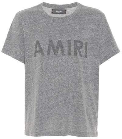 Amiri Printed cotton-blend T-shirt