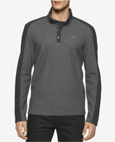 Calvin Klein Men's Quarter-Snap Colorblocked Sweatshirt