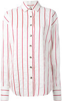 Awake striped shirt - women - Linen/Flax/Viscose - L