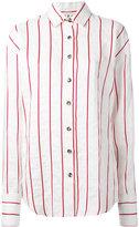 Awake striped shirt - women - Viscose/Linen/Flax - M