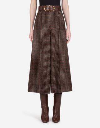 Dolce & Gabbana Wide-Leg Pants In Tweed