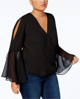 INC International Concepts Anna Sui Loves Plus Size Bell-Sleeve Blouse, Create for Macy's