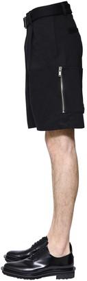 Undercover Cotton Canvas Shorts W/ Belt & Zips