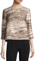 Lafayette 148 New York Odene Asymmetric Topper, Nutmeg Multi
