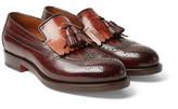 Santoni - Two-tone Leather Kiltie Tasselled Loafers