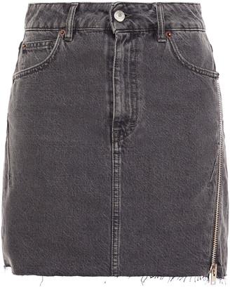 IRO Emiel Zip-detailed Denim Mini Skirt