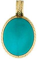 David Yurman 18K Oval Turquoise Enhancer