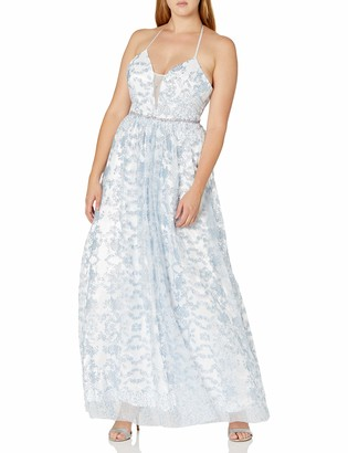Cachet Women's Glitter Tulle Ballgown