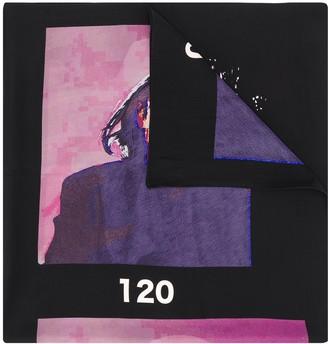 Yohji Yamamoto Graphic Print Scarf